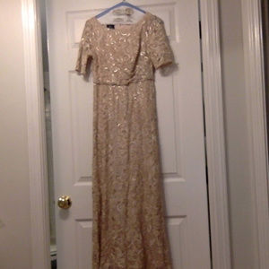 Pale rose AdriannaPapell mother-of-the-bride dress